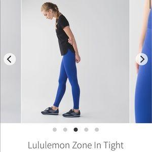 Lululemon zone in tight